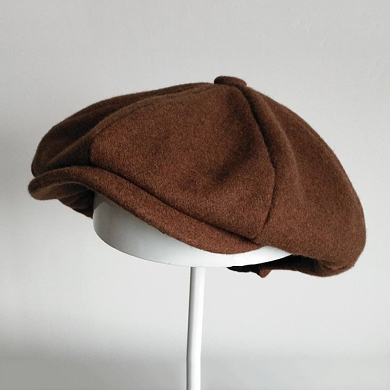 Wool Newsboy Caps Men Flat Caps Women Coffee British Gatsby Cap Autumn Winter Wool Hats Top Grade Beret