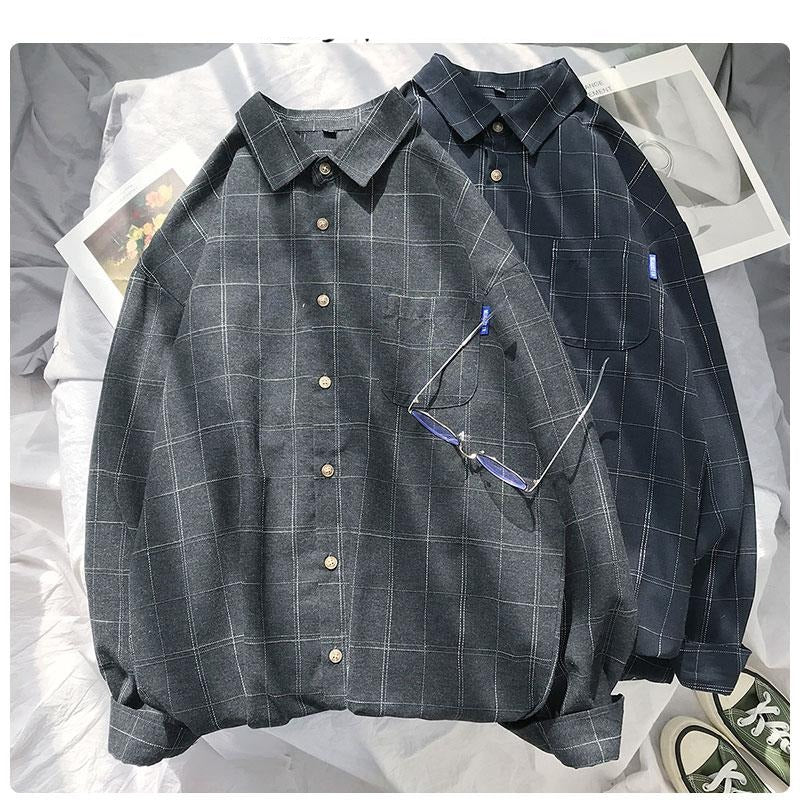 New Women's Shirt Casual Style Female Blouses Long Sleeve Plaid Shirt Plus Size Office Tops