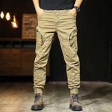 Men's casual pants slim multi-pocket design work pants cotton high quality large size pencil pants men's trousers 38