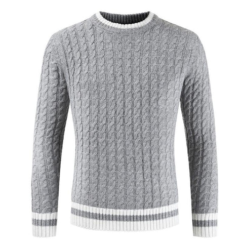 Mens Personality Long Raglan Pleated Sleeve Round Neck Elasticity Knit Sweaters Pullovers for Autumn Winter