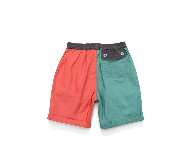 Summer new kids shorts contrast color girl boys fashion comfortable Skin-friendly shorts elastic waist