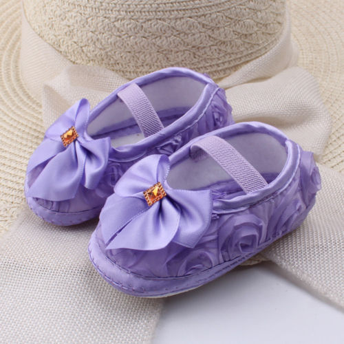 Newborn to 18M Infants Baby Girl Soft Crib Shoes Prewalker Sole Shoes First Walkers
