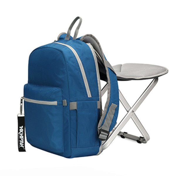 High Quality Backpack Chair Portable Camping Stool Foldable Chair with Double Layer Oxford Fabric Cooler Bag for Fishing Camping