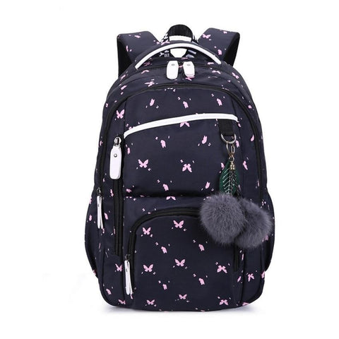 cute school bags for teenage girls style school backpack for girls fur ball decoration children bag girl gift