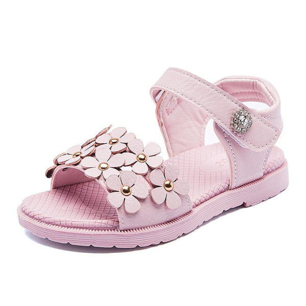 Baby Little Girls Summer Pearl Sandals bling sandals for girls Free shipping
