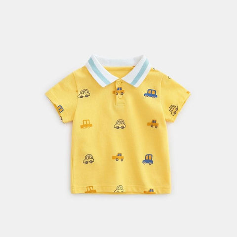 baby clothes Summer New Boys Short Sleeve Polo Shirt 1-5y Children Lapel Clothes Kids Cotton Polo Shirts Out