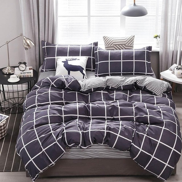 Bedding Sets Microfiber Brush Polyester Bed Linens Twin Full Queen King Duvet Cover Set Pillowcases