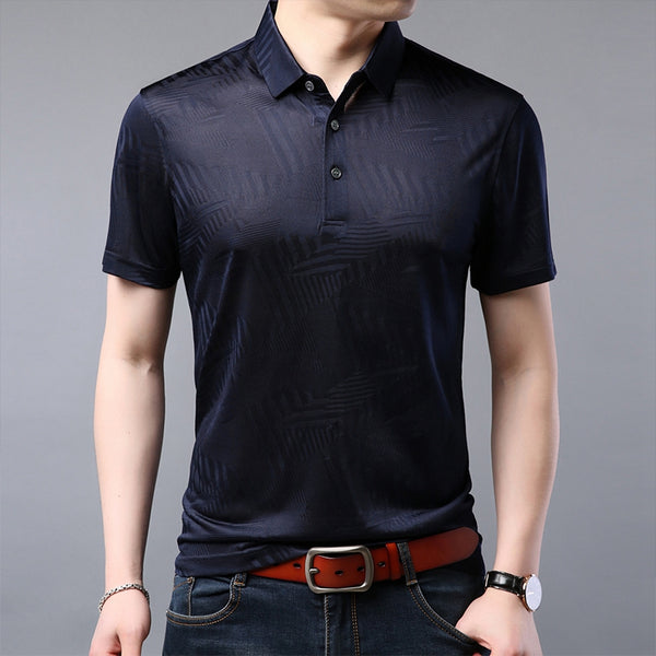 summer new mens polo shirt brands casual knitted designer men's polo shirt high quality silk man polo shirt for men M-3XL