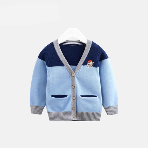 baby clothes boys girlsV-neck knitted sweater infants spring clothes cotton cardigan jacket 0-3 years old