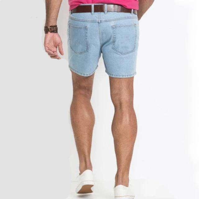 Summer New Western Shorts Jeans Men Straight Casual Trend All-match Classic Simple Denim Shorts Mens No Belt