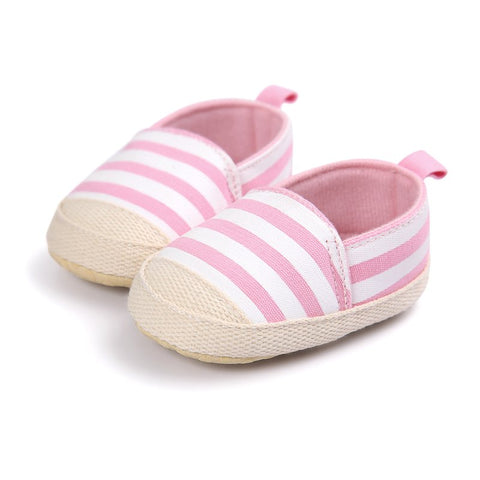Blue Striped Baby Boys Baby Girls Shoes Lovely Infant First Walkers Cute Soft Sole Toddler Baby Shoes Hot Sale