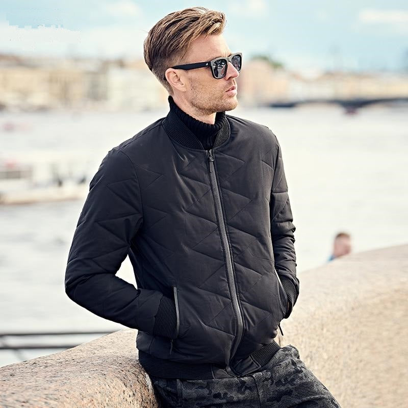 Winter Thick Jacket Coat Men Parka Black Coat Jacket Men Thick Quilted Warm Jacket 3XL Coat Men