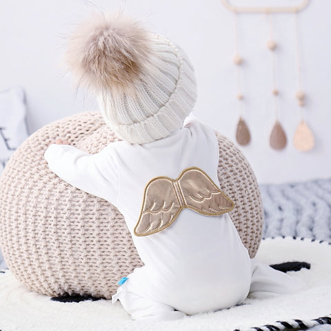 winter Newborn Clothes Baby Angel Mink Plush Super Soft Baby's Rompers with Feet Baby Christmas Clothes Christmas Clothes