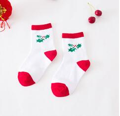 Children Socks Lovely Casual Christmas Stockings Autumn And Winter kids sock 1-6 years old