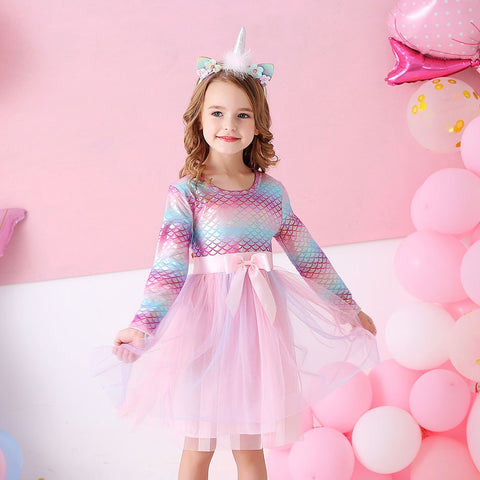Toddler Kid Girl Princess Dress Lace Tulle Wedding Birthday Party Tutu Dress Pageant Children Clothing Kid Costumes