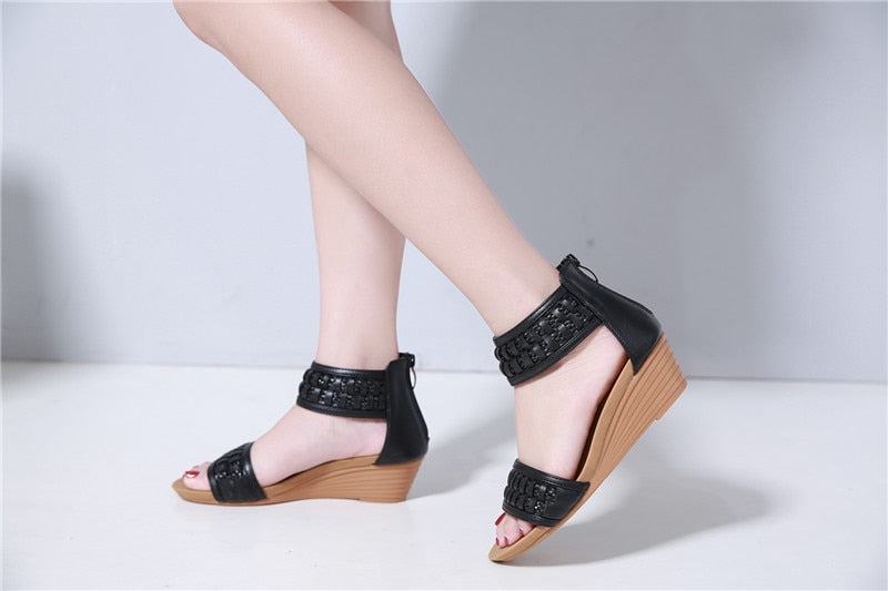 summer new shoes woman wedges sandals women comfortable high heels sandals female shoes