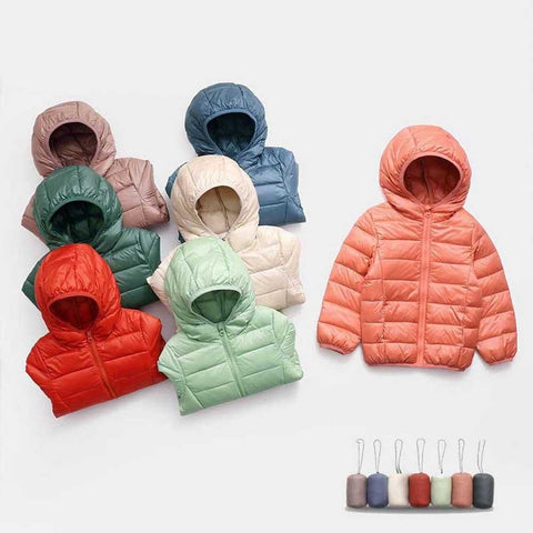 Children Down Jacket Coat Baby Girls Boys Parka Kids Jacket Hooded Winter Children Jacket Fall Toddler Outerwear 2-8 Years
