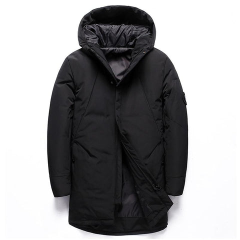 New Winter Trench Jacket Men Long Thicken Cotton Coat Casual Hooded Parkas Jacket Men Windproof Warm Coat Plus Size