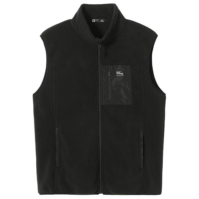 Autumn Warm Fleece Vest Jackets Men Warm Comfortable Black Gray Men's Jackets