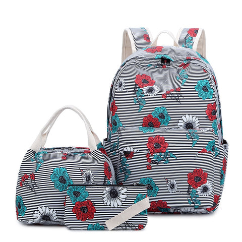 Girls school backpacks 3 pcs Printing Backpack children Backpack School Bags For Teenagers set Laptop Backpack Casual Travel Bag