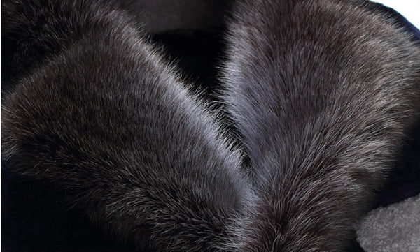 New Natural Men Fur Coats Genuine Sheep Fur With Hood -40 Degree Snow Winter Warm Coats G0003