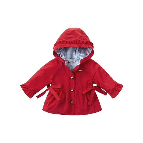 Autumn baby girls fashion removable bow pockets hooded coat children cute tops infant toddler outerwear