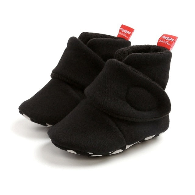 Spring Autumn Winter Newborn Cute Baby Boy Girl Crib Warm Toddler Shoes Soft Bottom Frist Walking For 0-18M