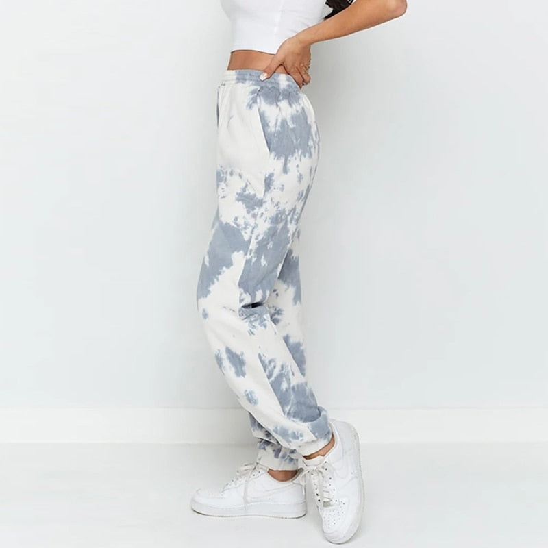 Sweatpants Women Elastic Waist Sport Style Long Pants Female Loose Casual Trousers Lady Pantalon