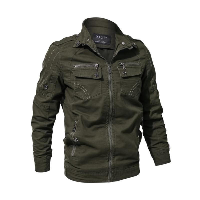 Winter Military Style Jackets Men Windproof Solid Thicken Warm Coat 100% Cotton Hooded Jacket