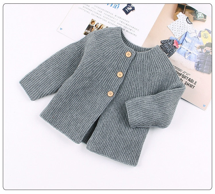Baby Knitted Sweater Cardigan For Girls Cotton Knitting Long Sleeve Clothing Baby Clothes Infant Clothes Newborn Outwear