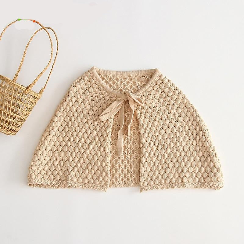 Baby Knitted Cape Autumn Warm Baby Cute Coat Baby Cloak Baby Girl Sweater Toddler  Clothes