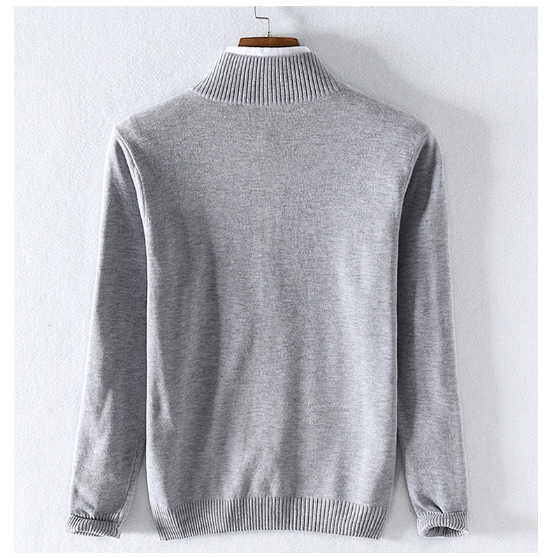 style embroidery men sweater brand casual sweaters for men stand collar cotton sweater mens slim sweaters