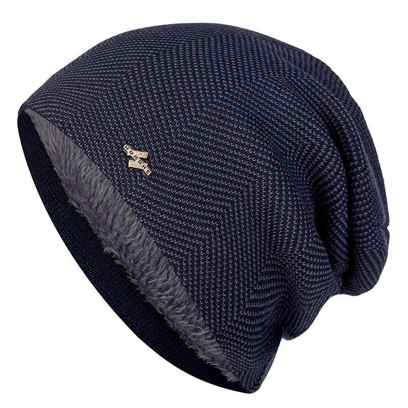 New Unisex Winter Warm Hat Men & Women Thick Knitted Casual Beanies Cotton Wool Outdoor Sports Ski Hats