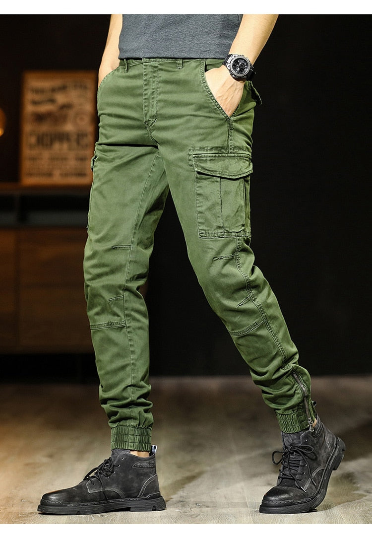 Autumn Winter New Pants Men Multi-pocket Military Cargo Pants Cotton Washed Outdoor Army Tactical Trousers
