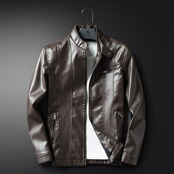 autumn winter faux leather jacket men slim fit retro outerwear coat high quality cool mens motorcycle windbreaker jackets