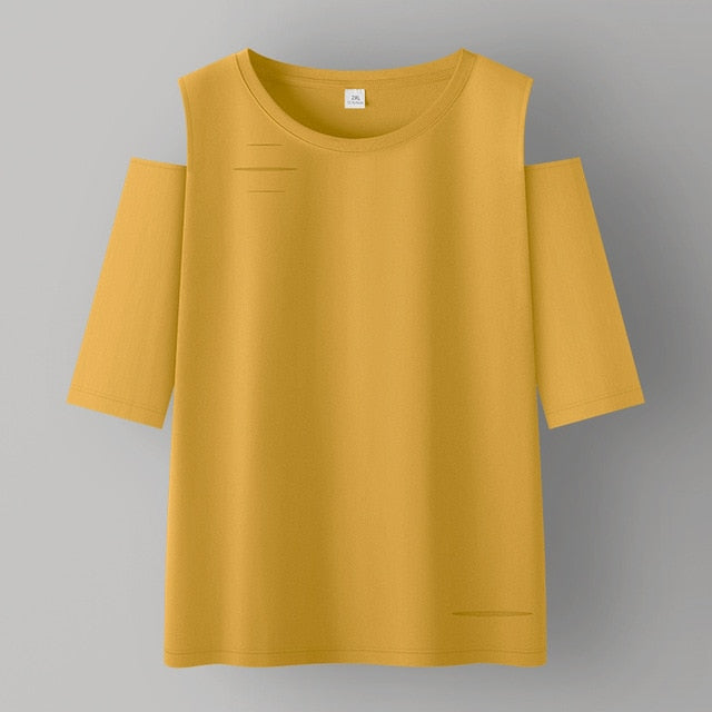 Cotton Women T-shirt  Short Sleeve women shirt All match Lady Top Casual Loose Shirt