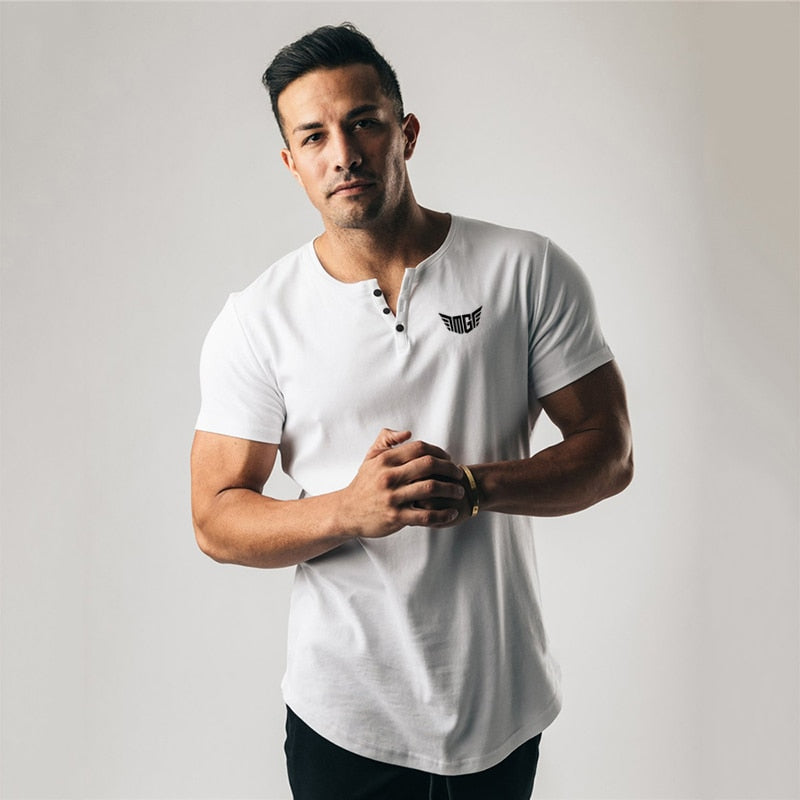 Short Sleeve Polo Shirt Men Summer Cotton Polos Gym Clothing Fitness Bodybuilding T shirt Male Slim Tees Tops
