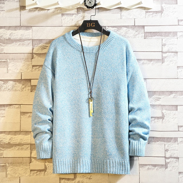Men'S Sweaters Spring Autumn Winter Clothes Pull Style Casual Standard Pullovers