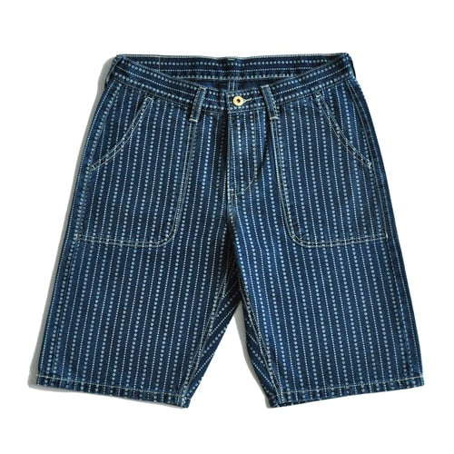 Mens Shorts jeans shorts Heart Discharge Dyeing Shorts Denim Shorts Selvedge Jeans Vintage