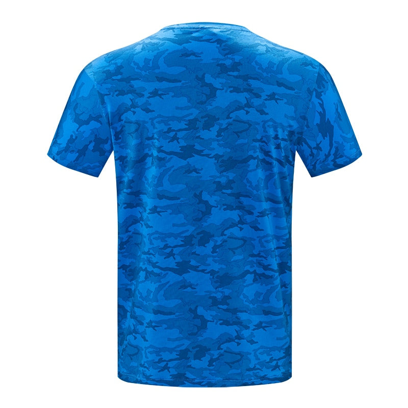 Men t shirts Summer Outdoor Sports Camouflage Short Sleeves T-Shirt Breathable Quick Dry Hiking Cycling Top Tees