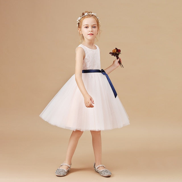 Princess Kids Baby Dress Girls Fancy Wedding Dress Sleeveless Kids Clothing Children New Year Birthday Party Costume Dress