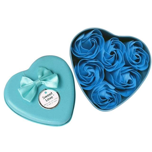 6pcs Heart Scented Bath Body Petal Rose Flower Soap Wedding Decoration Valentines Day Mothers Day Teacher's Day Gift