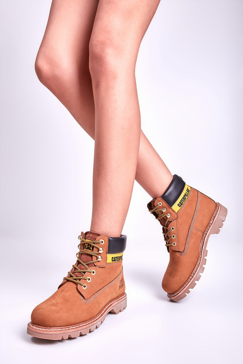 Women Montana Brown Boots New Trend Genuine Leather Rubber Sole Comfortable Autumn Winter Shoes