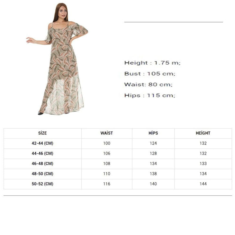 Women Summer Clothing Floral Print Long Sleeve Elegant Chiffon Dress Large Size Crew Neck Casual Maxi Dresses Casual Wear Female Floral