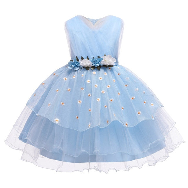 Flower Vintage Embroidery Baby Girls Dress Opening Ceremony Clothing Tutu Party Elegant Wear Girls Princess Dress Kids Vestid3-1