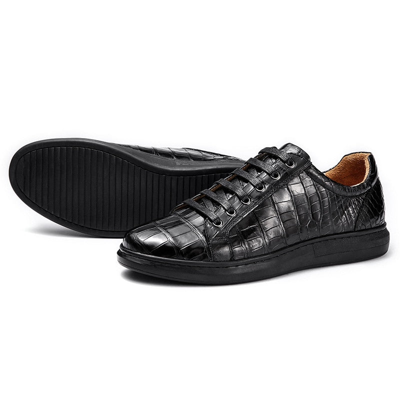 Casual Designer Authentic Real Men's Leisure Vulcanized Shoes Genuine Leather Male Lace-up Flats Shoes