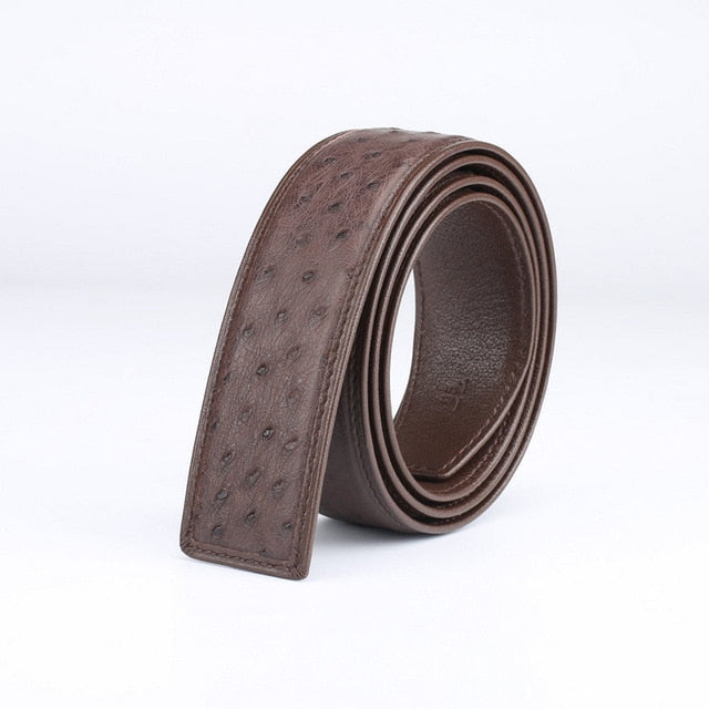 High Quality Authentic Real Skin Men's Belt for Automatic Buckle Genuine Exotic leather Waist Strap Male Classical Belts