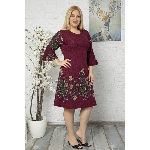 Women's Dress Plus Size Flywheel Sleeve Crepe Fabric Women Clothes Dresses Maternity Dresses Pregnant Boho