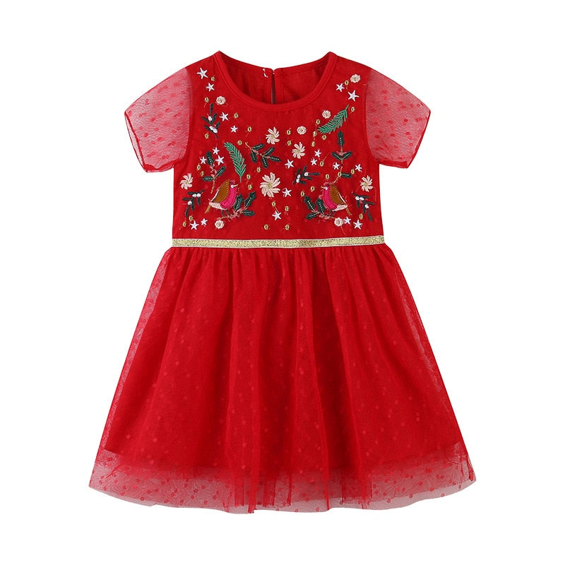 Girls Embroidery Dress Summer Toddler Dresses Kids Clothing Cotton Children Casuals Vestidos
