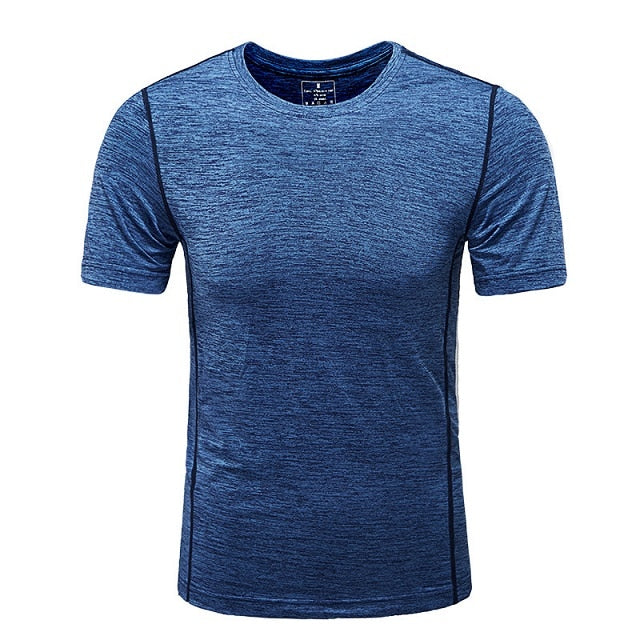 Clothing Short Sleeve Men Quick Drying T Shirt Elastic Compression Tight Round Collar T-Shirt Male Shirt Summer Tops